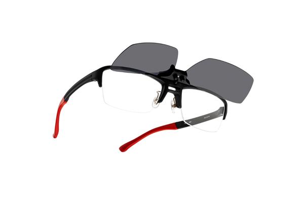 眼鏡市場 FUN GLASSES(ファングラス) angler original(アングラー オリジナル) IA-467 カラー:BKM(ブラックマット、写真)・BRM(ブラウンマット)・GR(グレー)イメージカット