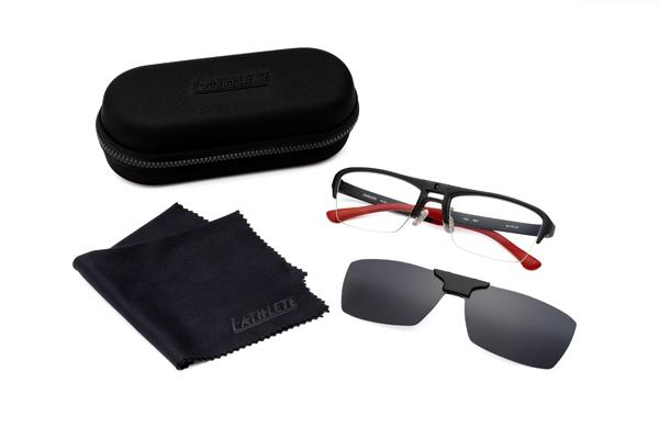 眼鏡市場 FUN GLASSES(ファングラス) angler original(アングラー オリジナル) IA-467 カラー:BKM(ブラックマット、写真)・BRM(ブラウンマット)・GR(グレー)セット内容