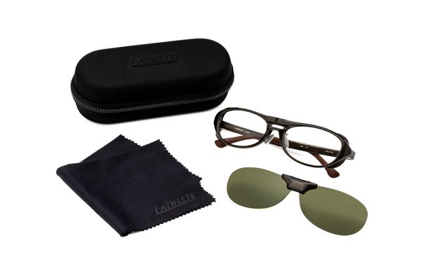眼鏡市場 FUN GLASSES(ファングラス) angler hood(アングラー フード) IA-468 カラー:BKM(ブラックマット)・GR(グレー)・KH(カーキ、写真)セット内容