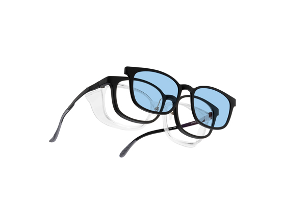 眼鏡市場 FUN GLASSES(ファングラス) essential(エッセンシャル) FFT-CLIP04 カラー:BKH(ブラックハーフ)・BKM(ブラックマット、写真)イメージカット