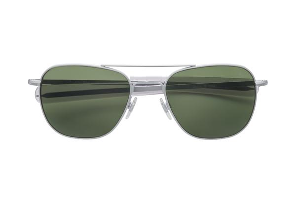 American Optical(アメリカン オプティカル) Original Pilot(オリジナルパイロット) サイズ:55□20-140 カラー:マットシルバー(レンズ:グリーン)