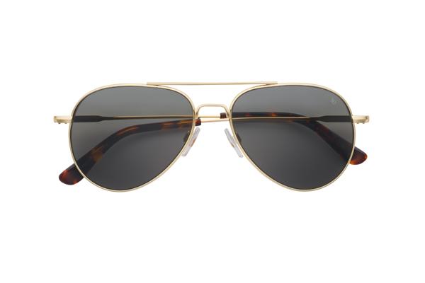 American Optical(アメリカン オプティカル) General(ジェネラル) サイズ:55□14-140 カラー: ゴールド(レンズ:グレー)その2
