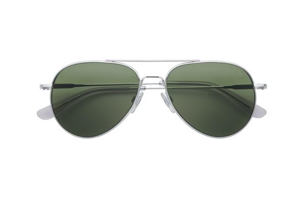 American Optical(アメリカン オプティカル) General(ジェネラル) サイズ:55□14-140 カラー: シルバー(レンズ:グリーン)