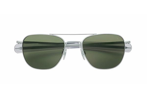 American Optical(アメリカン オプティカル) Original Pilot(オリジナルパイロット) サイズ:52□20-140 カラー:マットシルバー(レンズ:グリーン)