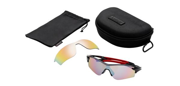 眼鏡市場 i-ATHLETE(アイアスリート) IA-108 カラー:BK(ブラック)セット内容