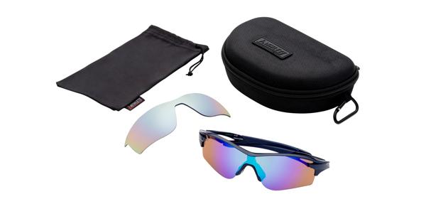眼鏡市場 i-ATHLETE(アイアスリート) IA-108 カラー:NV(ネイビー)セット内容