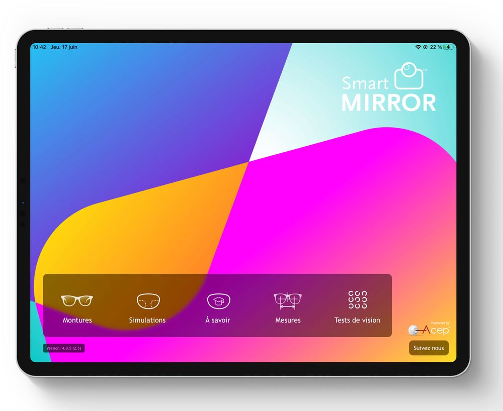 ACEP with « SMART MIRROR 4 PRO»