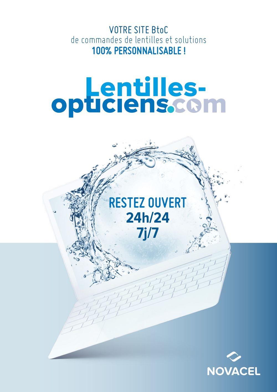 NOVACEL with « www.lentilles-opticiens.com »