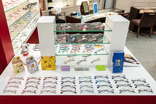 子ども用メガネフレームのサイズやデザインが豊富