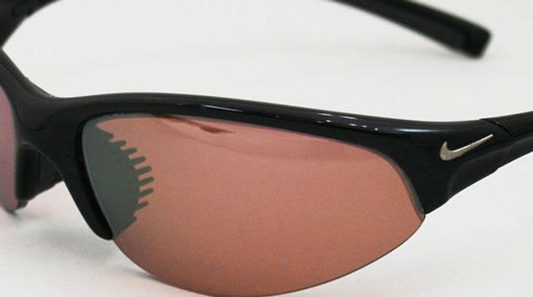 カワチで作成した度入りスポーツサングラスの一例。